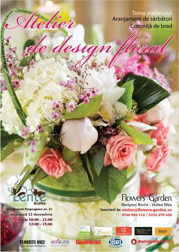 atelier design floral 12 decembrie