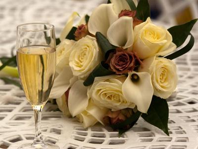 buchet de mireasa cu trandafiri de matase