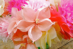buchet din flori de hartie